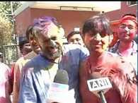 Yogendra and Kumar Vishwas hugged each other on holi
