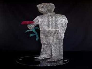 D Angelo Paperclips Sculptures