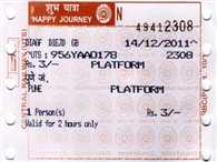 Will not embark in line, take the mobile platform ticket