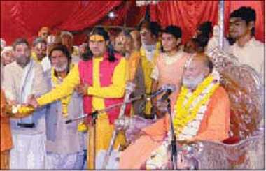 Tue songs rang out from the wedding of Rama to Ayodhya