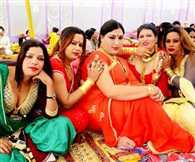 Photo session of India eunuchs in royal veneer in Jaipur