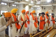 Guru Khalsa Srbt three Jathedar home bow