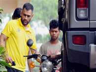 MS Dhoni seen busy in bike repairing all day on birthday