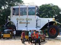 Giant Car Motors into Indian Museum