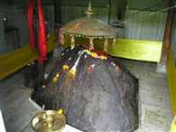 The temple has remained a mystery stone statue of the Pandavas emerged