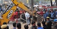 Bulldozers roared Corporation, several area encroachment-free