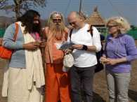 Bhagavad Gita and Ganges Pulled Italian Couple in Haridwar
