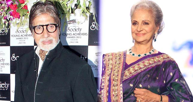 Amitabh Bachchan: Would've loved to Waheeda Rehman