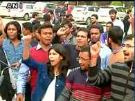 JNU vice-chancellor's office and blockade by ABVP students