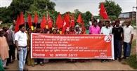 भ्रष्टाचार के खिलाफ माले ने प्रखंडों पर बोला हल्ला