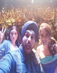 देखें तस्वीरें : अर्जुन, इलियाना और अथिया संग 'जट्ट जैगुआर' गाने पर झूमे लोग