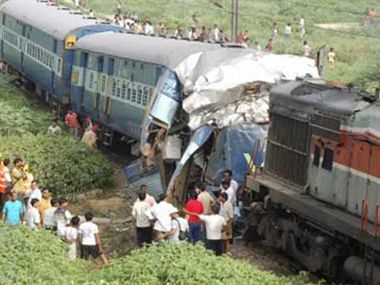 brahmputra mail collide with goods train, two died