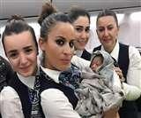42000 फीट की ऊंचाई पर केबिन क्रू की मदद से महिला ने दिया बच्ची को जन्म