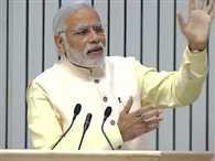 PM Modi addressing the Akhil Bharatiya Prachaarya Sammelan at Vigyan Bhawan