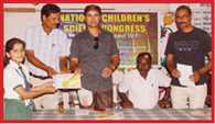 child scientist collect at guru nanak