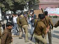 Lathicharge on students of Aligarah