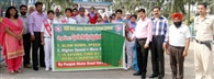 सड़क सुरक्षा सप्ताह पर निकाली साइकिल रैली