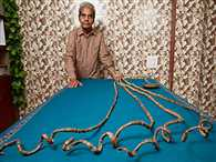 Indian man with the world's longest fingernails