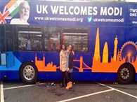 Indians in Britain launched the Modi Express