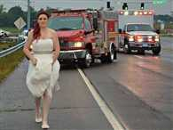 Paramedic Bride leaves her wedding to go help her father and grandparents after they are involved in car crash