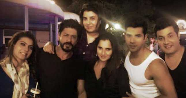 SRK, 'Dilwale' team play host to Sania Mirza