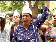 Aam Aadmi Sena protests outside CPM office
