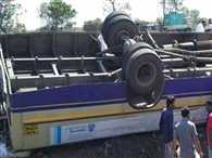A GSRTC bus accident in Amreli 7 killed, 27 injured
