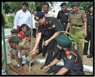 ब्रिगेडियर राकेश शर्मा ने किया एनसीसी प्लाटूनों का निरीक्षण
