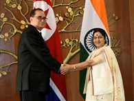 Sushma meets three foreign ministers in three days