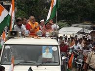 तिरंगा यात्रा में उमड़ी भाजपा कार्यकर्ताओं की भीड़