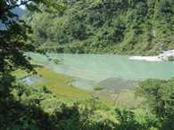 ramganga's flow stop due to landslide