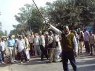 road blocked by bku