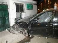 car entered Forest Minister's house in the capital  after collision