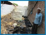 शादी वाले घर में लगी आग, हजारों का नुकसान