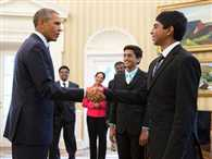 Obama meets Indian-American Spelling bee champs