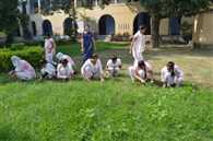 girls clean the colllege
