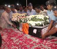 Funeral of Air Force personnel with military honors