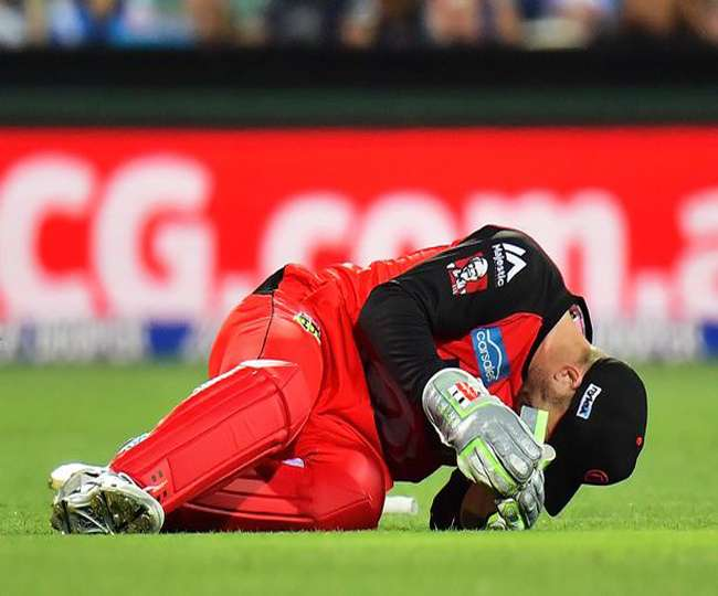 Australia keeper Peter Nevill broken his jaw by hodge in a freak accident