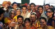 Salman cheers up the unit amid Swine flu scare