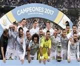 रोनाल्डो के बिना ही रियल मेड्रिड ने बार्सिलोना को हराकर जीता सुपर कप का खिताब