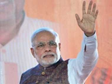 modi meets his mother on 64th birthday