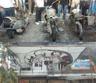 Fire in Congress office, three vehicles including office burnt fully