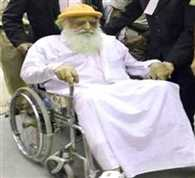 Supporters tear out to see Asaram on wheelchair