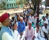 राजस्थान में किसानों ने किया विरोध प्रदर्शन