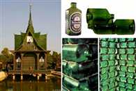 Buddhist Temple Built from Beer Bottles