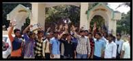 सांध्यकालीन कक्षाओं की मांग को लेकर एबीवीपी ने किया प्रदर्शन
