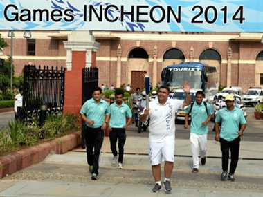 Asian Games torch reaches its destination Incheon