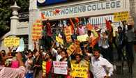 PWC Sexual Abuse : Agitatated girls stopped the speed of Patna for hours