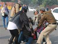 Police detain acid attack survivors from protest rally near Parliament, After beating.