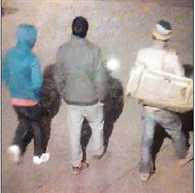 Raghunath Temple released footage of the three suspects in theft